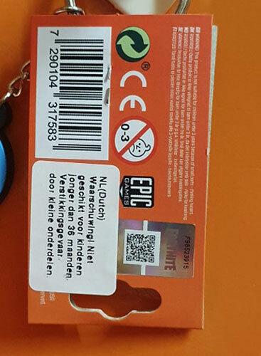 PR Epic Games Licence Keychain porte-clé Fortnite Skin Experte des Câlins
