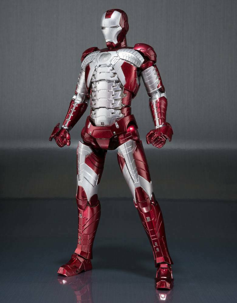 IRON MAN MARK V & HALL OF ARMOR SET FIGURINE IRON MAN 2 TAMASHII NATIONS 15 CM