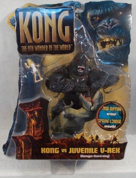 King Kong 2005 Movie Kong Vs Juvenile V-Rex 8th Wonder World Playmates T-Rex MOC