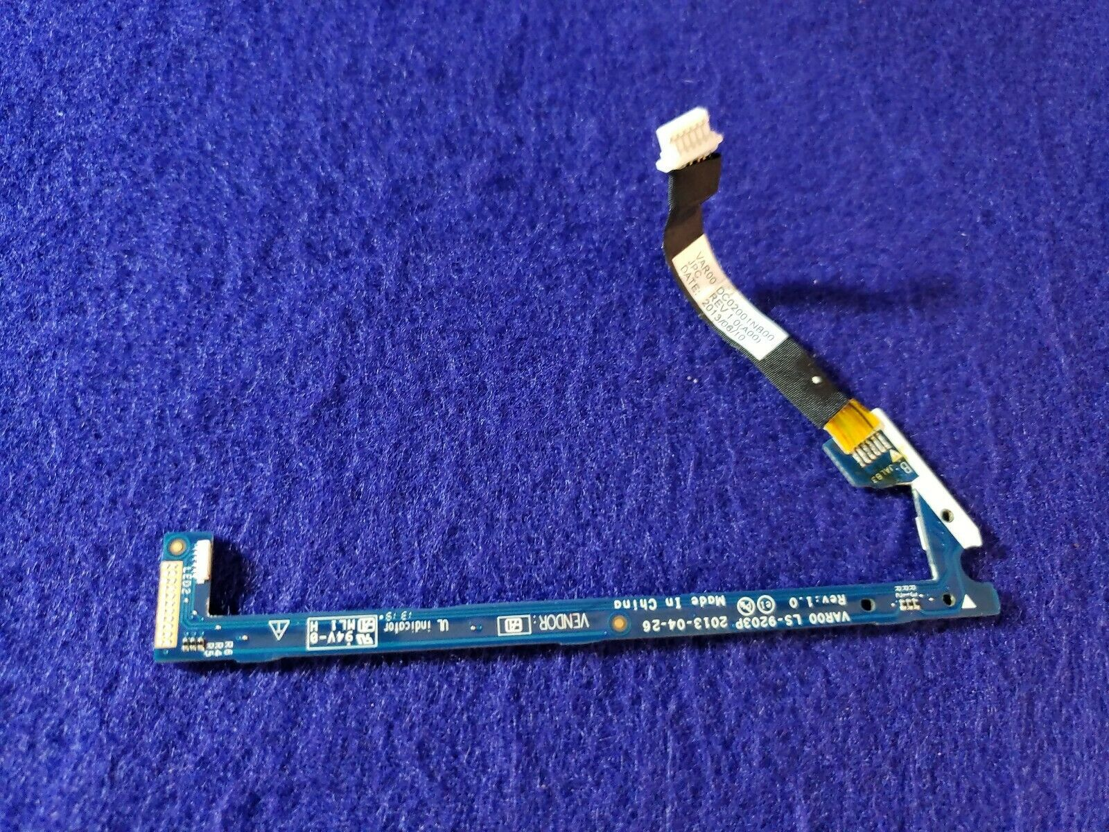 DELL ALIENWARE 14 R1 LED BOARD WITH CABLE LEFT DC02001O400 LS-9203P