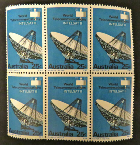 1968 Australian Stamps World Satellite Communications Set of 6 MNH