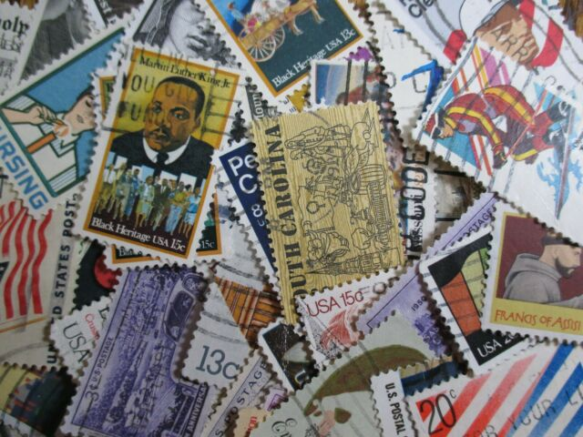 HENRY'S STAMPS - U.S. - 1000 COMMEMORATIVES - USED/OFF PAPER - FREE SHIP TO U.S.