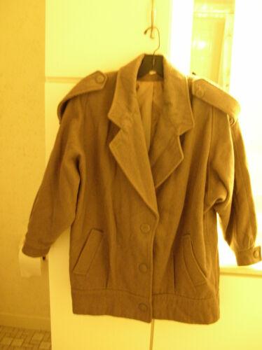 Vintage mocha brown corduroy jacket coat 11/12 Med