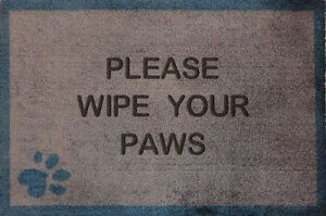 Image Is Loading Brown Please Wipe Your Paws With A Paw