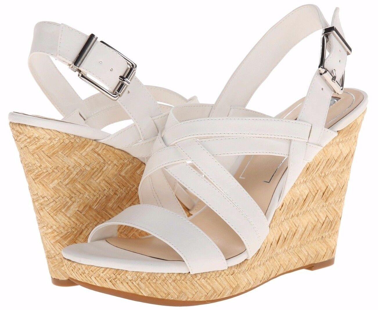 Jessica Simpson JS Julita Powder WEISS Espradrille Platform Wedge Sandale - 99