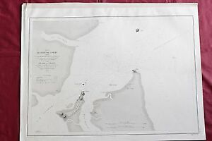 1862 - BRAZIL - CAMAMU PORT - BAHIA - NAUTICAL CHART