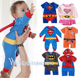 Bebe-Infantil-Infantil-Superman-disfraces-cosplay-mono-monos-Trajes-0