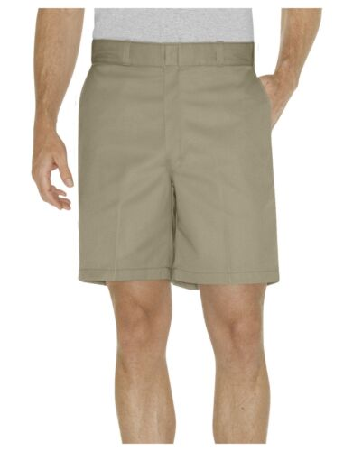 """Dickies Mens KHAKI 8/"""" Relaxed Fit Traditional Flat Front Shorts 42234KH"""