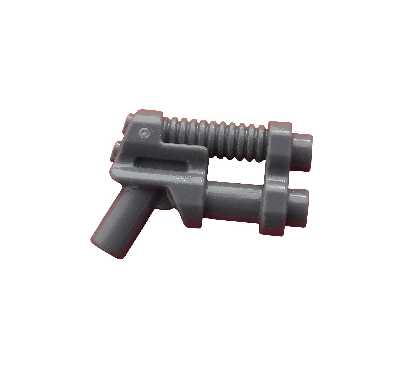 Lego 10 dunkelgraue Blaster Waffen dark bluish gray Two Barrel Pistol 95199 Neu