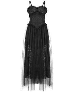 Dark-In-Love-Gothic-Prom-Dress-Black-Steampunk-VTG-Victorian-Floral-Lace-Evening