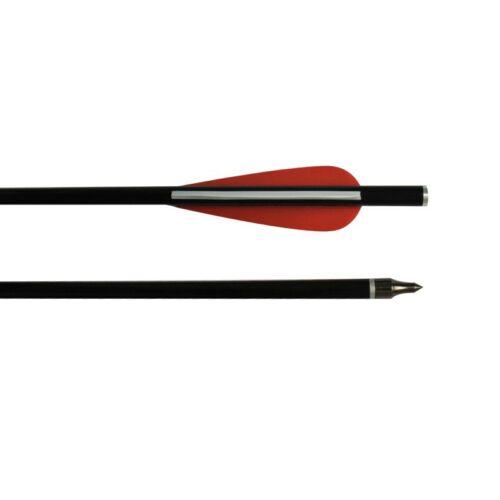 "12PK Fiberglass Crossbow Bolts 16/"" Hunting Arrow Flat Knock 100 Grain Tips Sport"