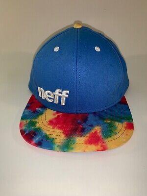 NEFF BRAWNEY Black /& Gray Tie Dye Snapback Cap Hat