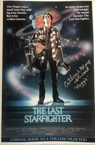 The-Last-Starfighter-Fully-Signed-18x12-Photo-AFTAL-GUEST-STEWART-CASTLE
