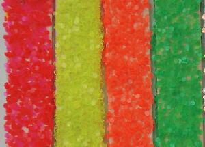 50g-Coarse-Fluorescent-PVC-Glitter-040-034-1mm-Hex-Green-Yellow-Orange-Red