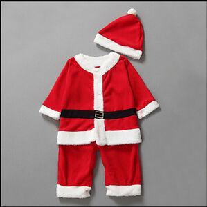 1224d681c Image is loading Toddler-Boy-Santa-Fancy-Dress-Christmas-Costumes-Jumper-