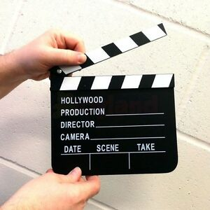 WOODEN CLAPPER BOARD DIRECTOR FILM MOVIE PROP TOY FANCY DRESS PARTY BOOK DAY