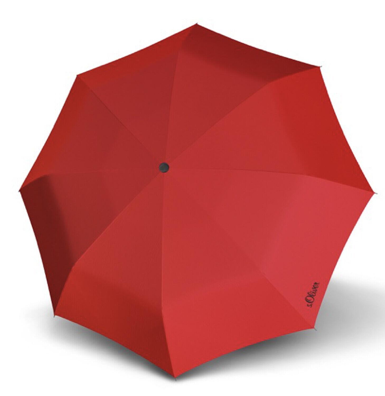 S. Oliver mini Smart paraguas uni red rojo nuevo