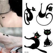 1 Blatt Körper Tattoo Aufkleber Sticker Wasserfest Katze Muster Schmuck