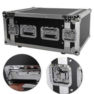 19-Inch-Space-Rack-Case-Single-Layer-Double-Door-6U-DJ-Equipment-Cabinet-Black