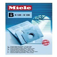 Miele B S125 S138 Vacuum Cleaner Bags 5 Pack & 1 Air Clean Filter Genuine