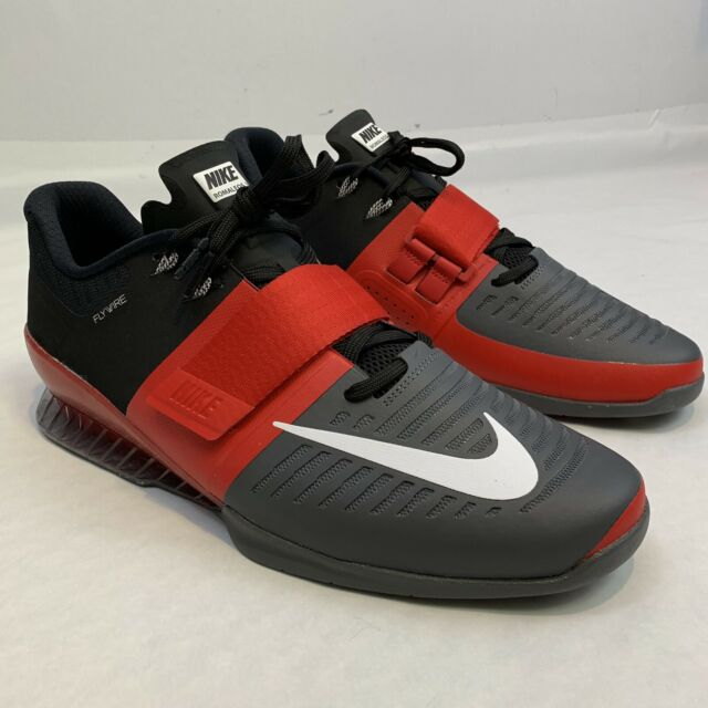 a7524ba27d552 Size 13 Men's Nike Romaleos 3 Weightlifting Shoes Red Black Grey 852933 600