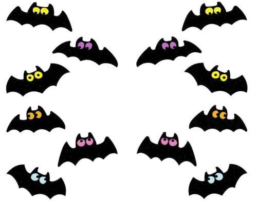 ~ Chubby Bats Bat Bright Eyes Halloween Spooky Bitty Mrs Grossman Stickers ~