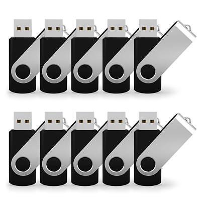 Lot 10 2GB USB 2.0 Flash Drive Memory Stick Storage Pen Drive Thumb Drive Black