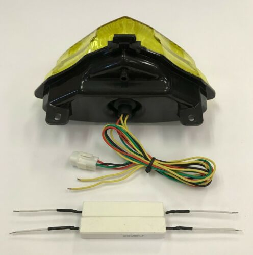 Details about  /04-06 R1 YELLOW LED Taillight Tail Light Rear Brake Turn Signals Integrated 2005