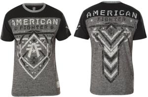 AMERICAN-FIGHTER-Mens-T-Shirt-HARTWELL-Athletic-BLACK-GREY-Biker-Gym-MMA-40
