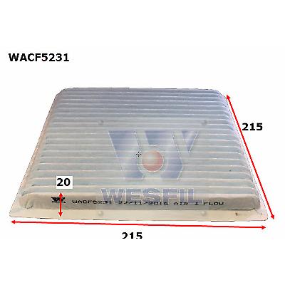 WESFIL CABIN AIR FILTER for LANDCRUISER TRIBECA TARAGO LIBERTY WACF5231