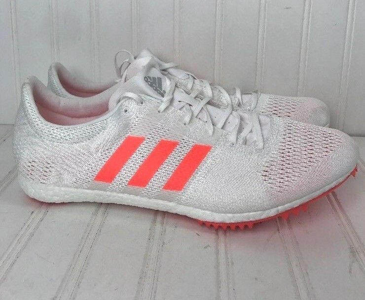 efb1c40c620 ... Adidas Mens 13M speed of light track track track field shoes new nwt  orange white box14 ...
