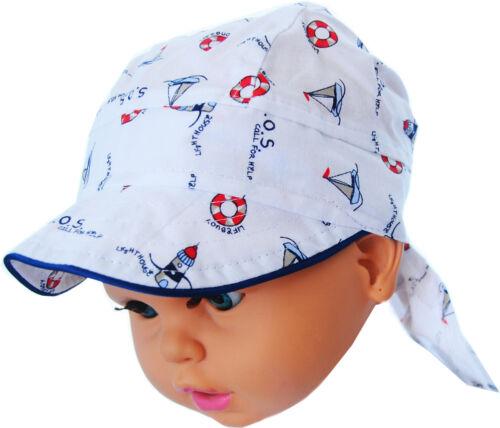 Kopftuch 36-45cm Baby Kinder Sommer Mütze Mützchen Kopfbedeckung Bandana