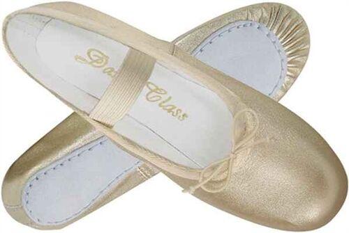 New Girls/' Gold Ballet Slipper Shoe for Dance or Weddings
