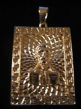 Jesus Malverde PORTRAIT Charm Pendant & a FREE  24 inch link chain Gold Plated