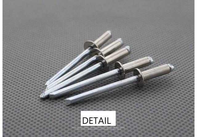STEEL POP RIVETS CE CERTIFIED * 100 4.8 x 14mm OPEN TYPE DOME HEAD ALUMINIUM