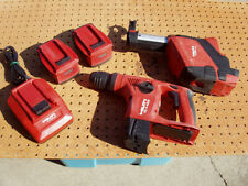 Hilti Te 4 A22 Rotary Cordless Hammer Drill 2 Batteries Charger Dust Collector