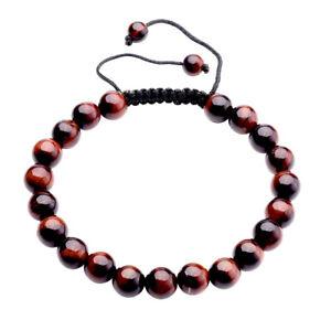 Handmade-Natural-Gemstone-Bead-Healing-Power-Adjustable-Tassels-Bracelet-YHSL8