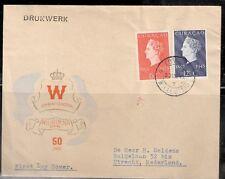 Curaçao  eerste dag brief met nummer 196/197