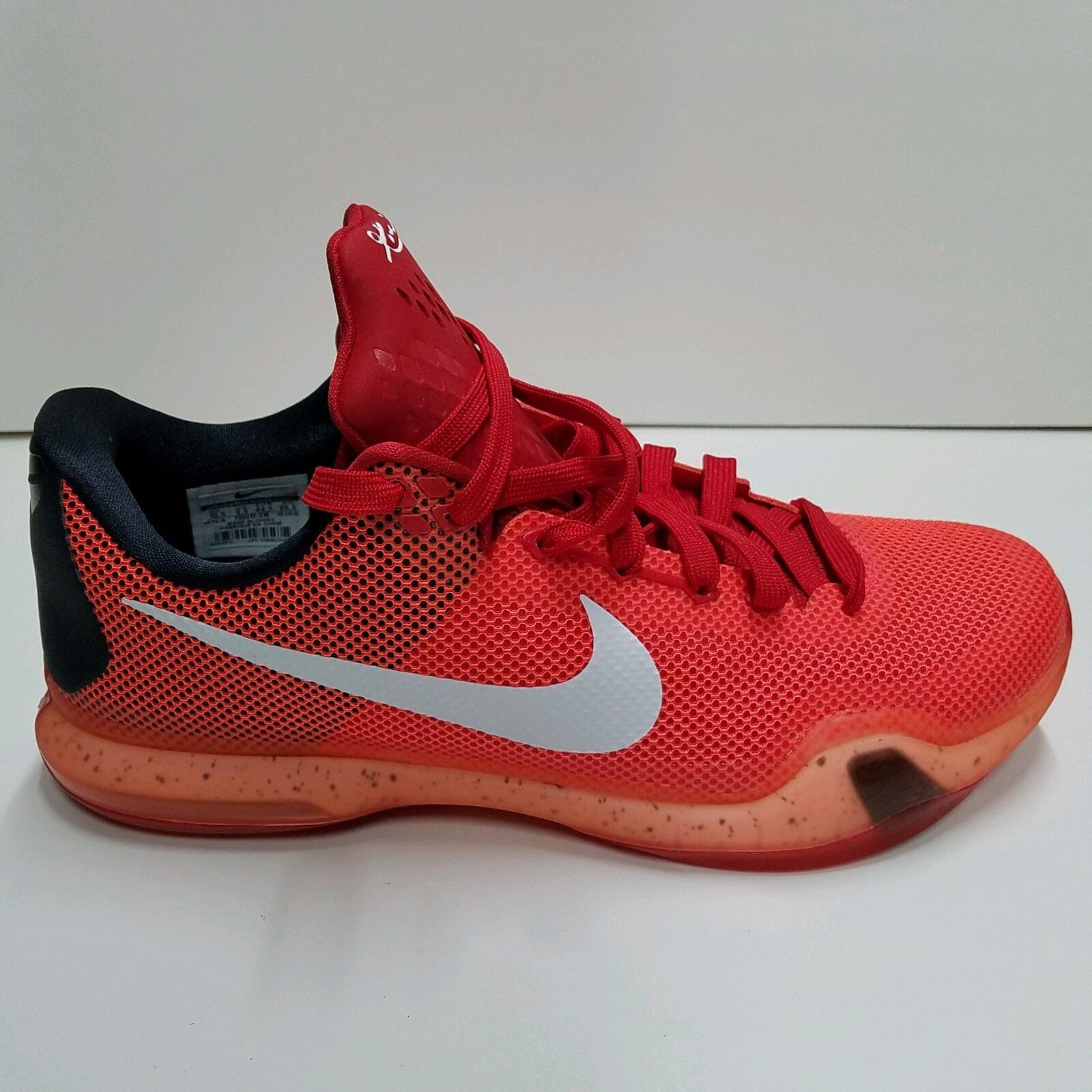 "NIKE KOBE 10 X Elite Low ""BRIGHT CRIMSON"" FLYKNIT BASKETBALL SHOES Men Sz 10.5"