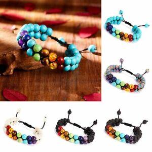 7-Chakra-Yoga-Natural-Stone-Beaded-Double-Layer-Lava-Healing-Adjustable-Bracelet