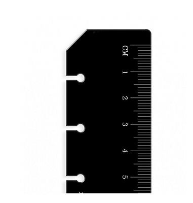 Filofax Book Personal Organiser Ruler Page Marker Black Insert Refill 133609