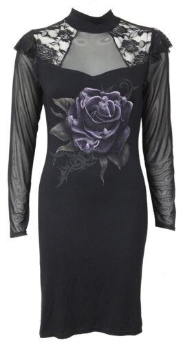 SPIRAL DIRECT ROSE ANGEL CORSET DRESS //Rose//Corset//Gothic//Darkness//Purple//Angel