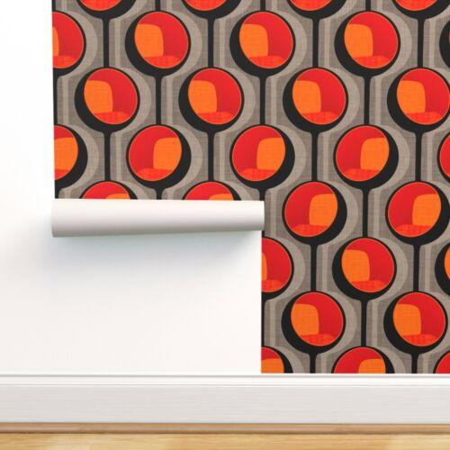 Peel-and-Stick Removable Wallpaper Mod Chair Midcentury Modern Retro Orange Seat