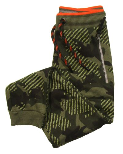 Superdry Men/'s Khaki Camo Green Printed Orange Label Urban Jogger Pants