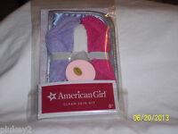 American Girl Clean Skin Kit For Dolls- 2 Washclothes+headband+sponge-new In Pkg