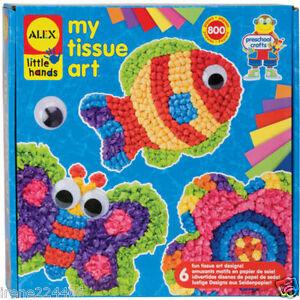 Alex-Creative-My-Tissue-Art-Activity-Kit-800-pieces-no-glue-6-patterns-3-NIB