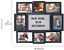 miniature 6 - 19x17inch Photos Multi Picture Frame Collage Aperture Decor Memories Home Wall