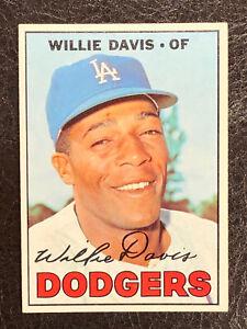 1967-Topps-Willie-Davis-Card-160-NM-MT-Nice-Los-Angeles-Dodgers