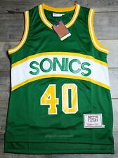 Shawn Kemp #40 Seattle SuperSonics 89-90 Rookie Throwback Jersey