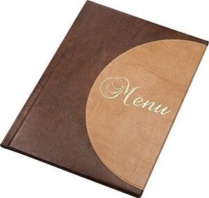 LEATHER MENU HOLDER A4 SIZE RESTAURANT PUB HOTEL DISPLAY CATTERING TABLE TOP C2